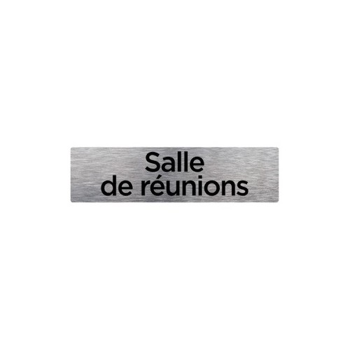 PLAQUE DE PORTE SALLE DE RÉUNION alu brossé 170 x 50 mm