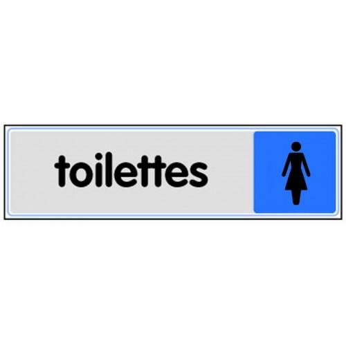Plaquette Plexiglas Couleur - Toilettes Dames