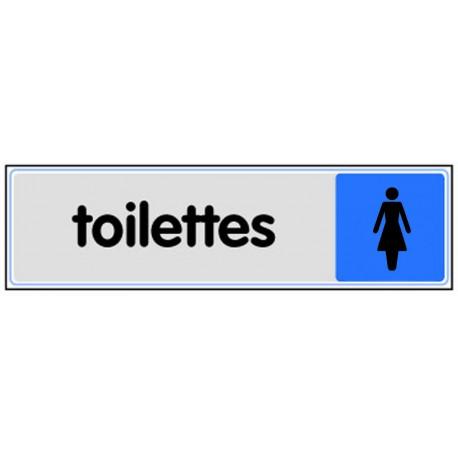 Plaquette plexiglas couleur - Toilettes femme