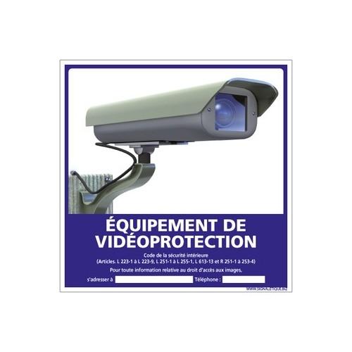 panneau équipement de vidéo protection - alu - 250 x 250 mm