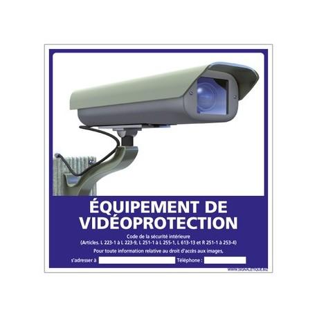 PANNEAU ÉQUIPEMENT DE VIDÉO PROTECTION alu 2 mm 250 x 250 mm
