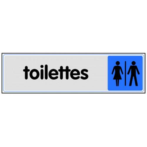 Plaquette Plexiglas Couleur - Toilettes Hommes / Dames