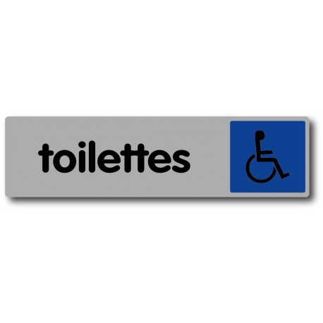 Plaquette plexiglas couleur - Toilettes handicapé