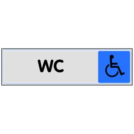 Plaquette plexiglas couleur - WC handicapé