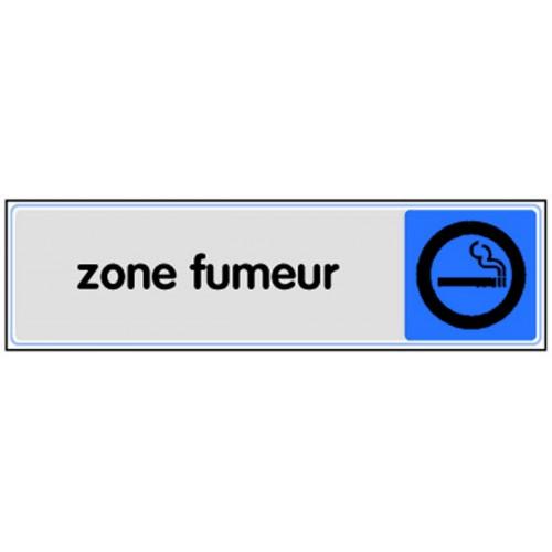 Plaquette Plexiglas Couleur - Zone Fumeur