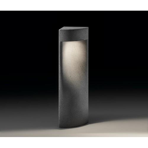 Luminaire extérieur balise en ciment gris