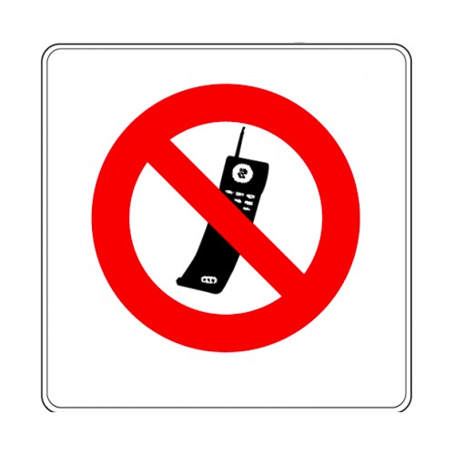 Pictogramme - Interdit aux téléphones mobiles