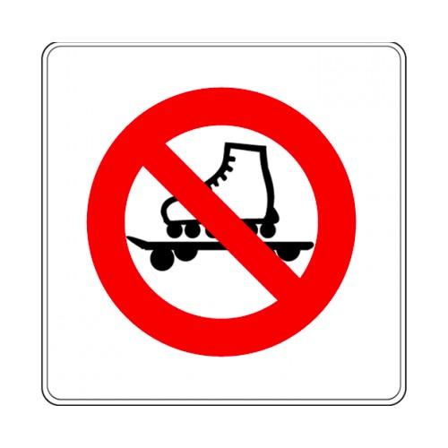 Pictogramme - Roller et skateboard interdit