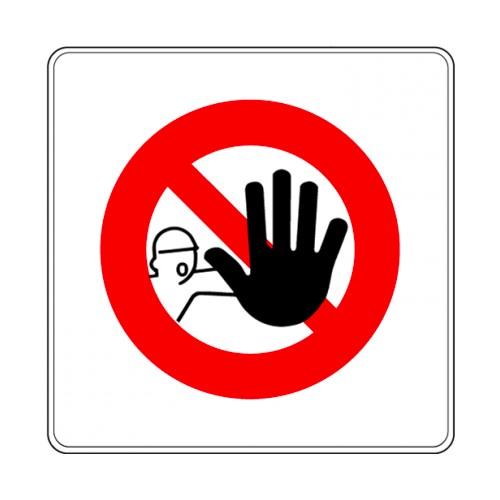Pictogramme - Interdiction de franchir