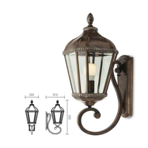 Lampe applique murale design antique - Essen