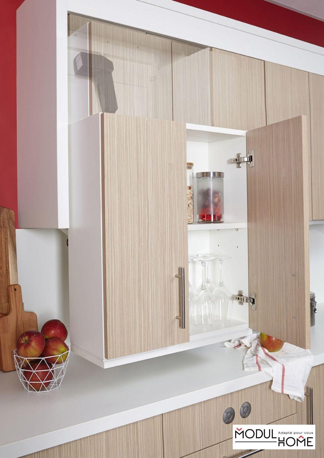 Meuble haut de cuisine à hauteur variable