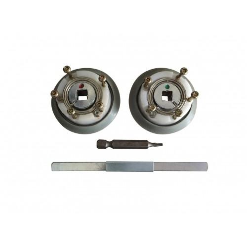 Mécanisme de poignée de porte Ulna Silver/Sensial