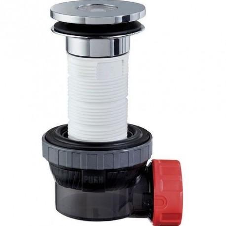 Siphon déporté avec tubulure pour tout type de lavabo
