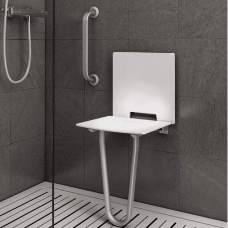 Siège de douche fixe sans dosseret