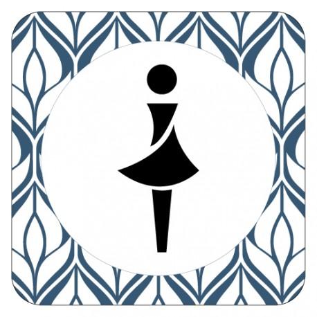 Plaquette de porte TOILETTES FEMMES