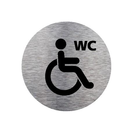 Plaque de porte ronde WC HANDICAPES