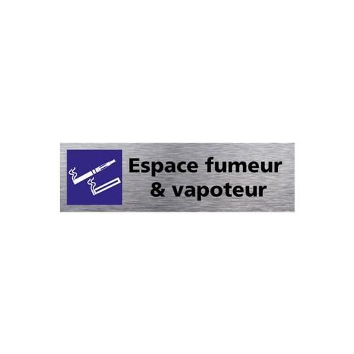 Plaquette de porte ESPACE FUMEURS ET VAPOTEURS