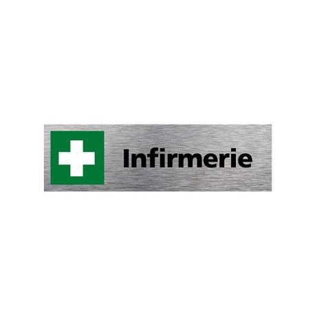 Plaque de porte INFIRMERIE