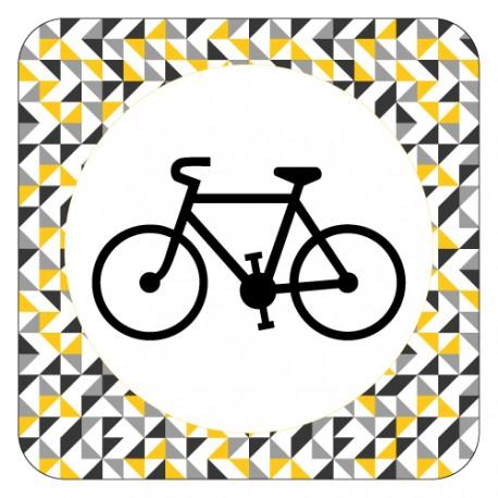 Plaque de porte vélo