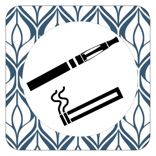 Plaque de porte espace fumeur et vapoteur