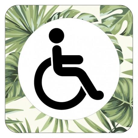 Plaque de porte réservé aux handicapés