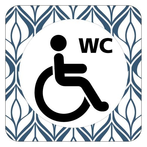 Plaque de porte WC handicapés