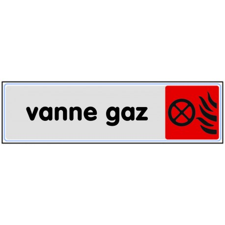 Plaquette plexiglas couleur - Vanne gaz
