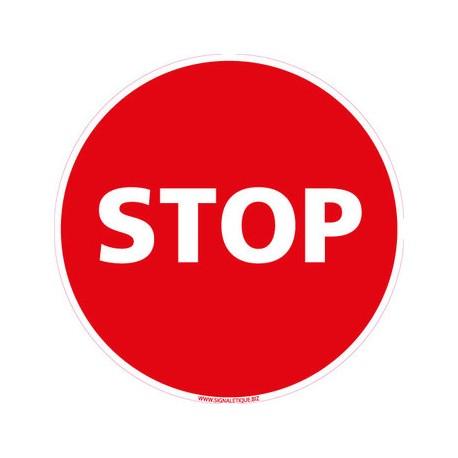 Panneau interdiction routière - STOP