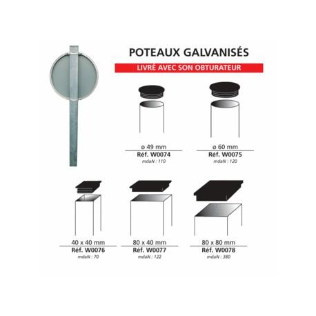 Poteaux galvanisés