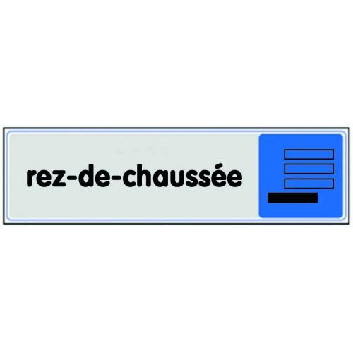 Plaquette Plexiglas - Rez-De-Chaussée avec pictogramme