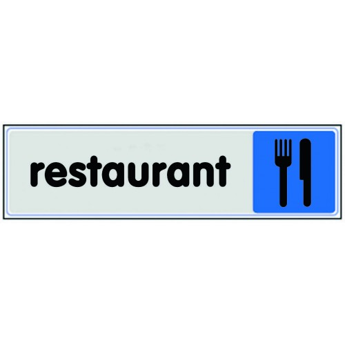 Plaquette Plexiglas Couleur - Restaurant