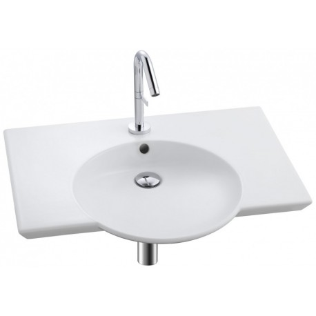 Lavabo plan-vasque 70 cm sans trou de trop-plein - Jacob Delafon - Spherik