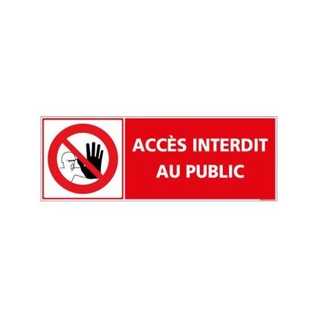 panneau accès interdit au public - alu - 2 mm - 350 x 125 mm