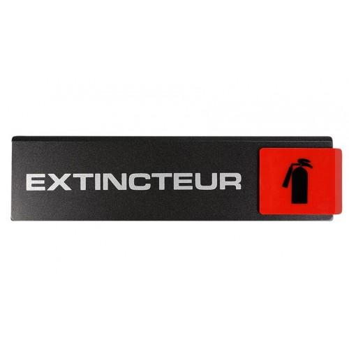 Plaquette Europe Design - Extincteur - Pictogramme à droite