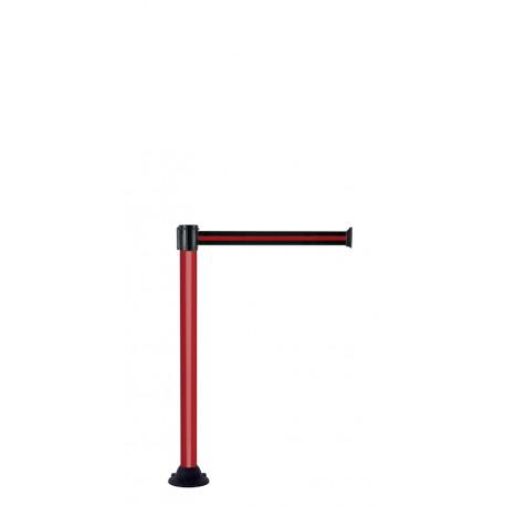 Poteau alu à sangle 50 mm socle fixe - Laqué Rouge