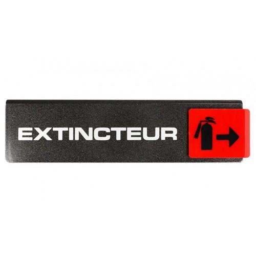 Plaquette Europe Design - Extincteur - Fléchage à droite