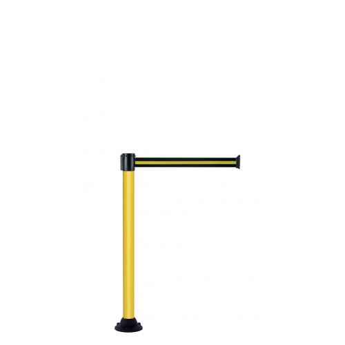Poteau de guidage jaune socle fixe 3 m x 50 mm