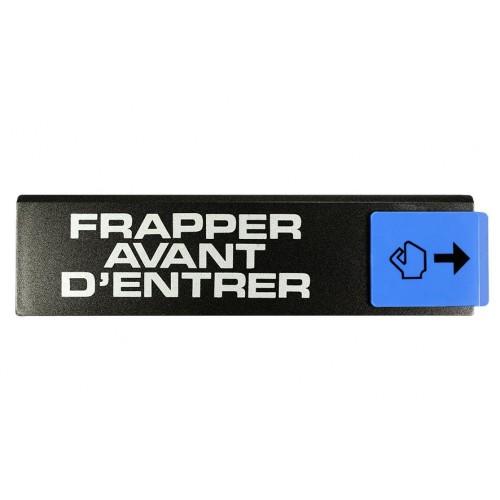 Plaquette Europe Design - Frapper avant d'entrer