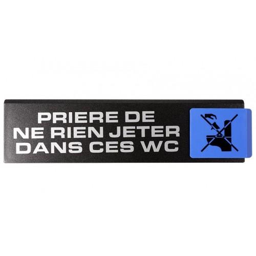 Plaquette Europe Design - Prière De Ne Rien Jeter Dans Ces WC