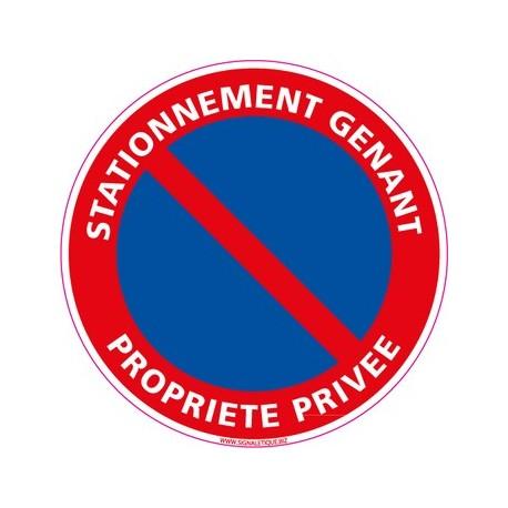 Panneau STATIONNEMENT GENANT PROPRIETE PRIVEE