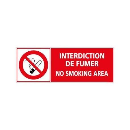 Panneau Interdiction de fumer en PVC 350 x 125 mm