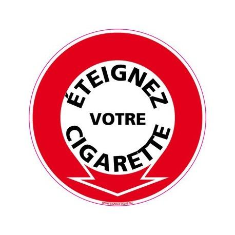 panneau éteignez votre cigarette - alu - Diam 250 mm