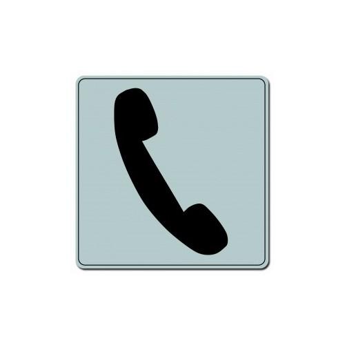 Plaquette Plexiglas Classique Argent - Téléphone - Carré
