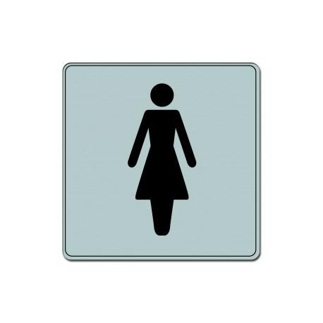 Plaquette plexiglas classique argent -  Toilettes femmes