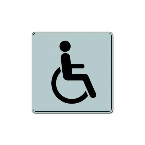 Plaquette Plexiglas Classique Argent - Handicapés