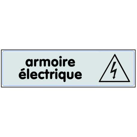 Plaquette plexiglas classique argent - Armoire électrique