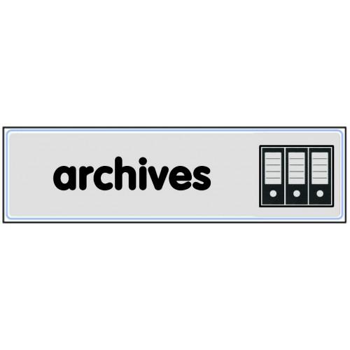 Plaquette plexiglas classique argent - Archives