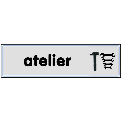 Plaquette plexiglas classique argent - Atelier
