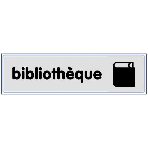 Plaquette Plexiglas Classique Argent - Bibliothèque