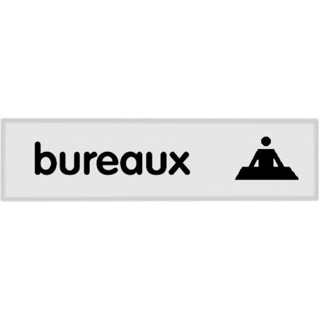 Plaquette plexiglas classique argent - Bureaux